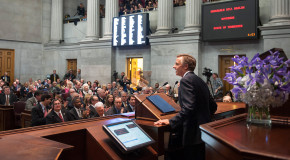 Governor gives his State of the State address; 1% raise proposed for state employees