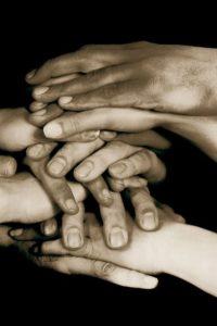 sepia hands