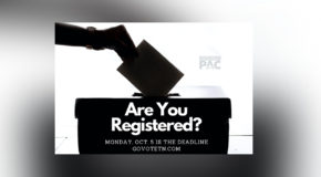 October 5 is the Voter Registration Deadline