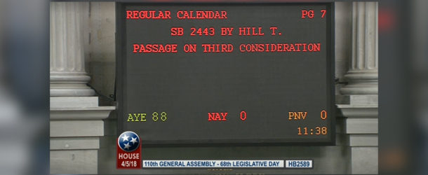 Subsequent Probation Bill passes House and Senate, heads to Governor